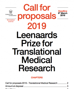 Call for proposals 2019
