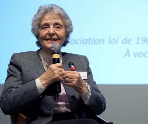 Dialogue entre Marie-Françoise Fuchs, membre fondatrice de l'association française Old'Up, et Blaise Willa, rédacteur en chef du magazine générations, lors du Rendez-vous Leenaards âge & société 2018.