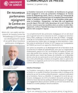 La Fondation Leenaards rejoint le Geneva Centre for Philanthropy comme partenaire stratégique