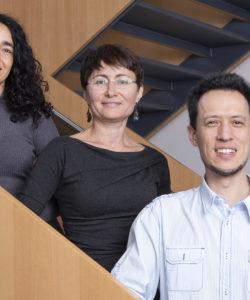 Photo lauréats 2019 (jpg) - Dr T.-H. Collet, Dr C. Dibner, Prof. J. Puder
