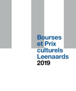 Brochure: Bourses et Prix culturels 2019