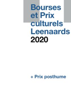 Brochure: Bourses et Prix culturels 2020
